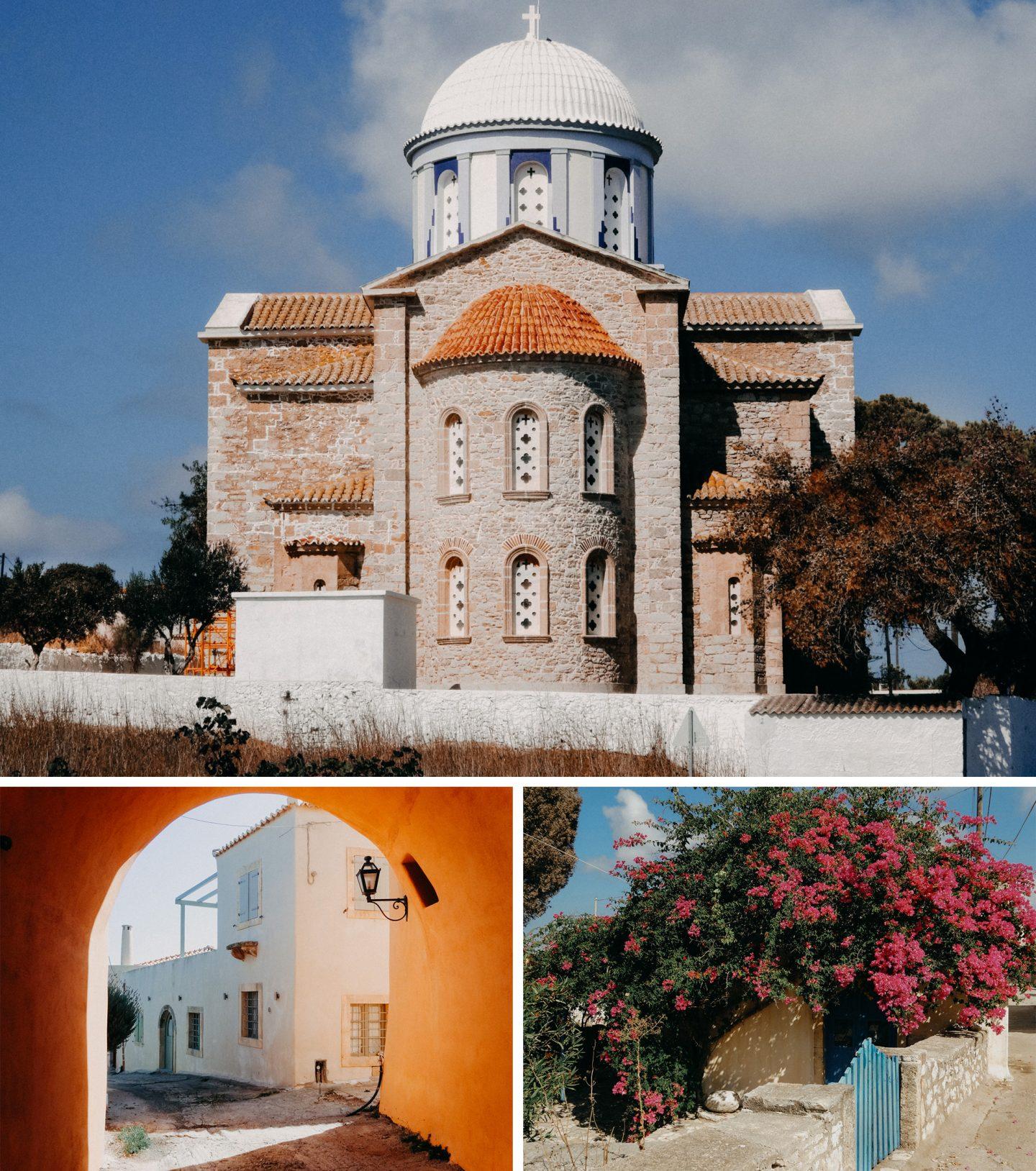 Aroniadika - liebliches Dorf im Inselinneren mit einigen im mediteranen Stil renovierten alten Hausern.