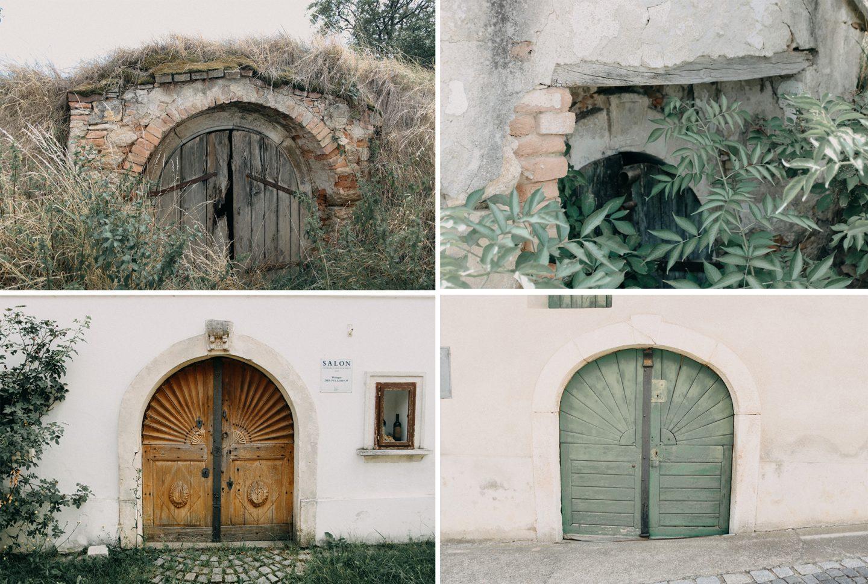 Kleine versteckte Weinkeller und besondere Kellertüren