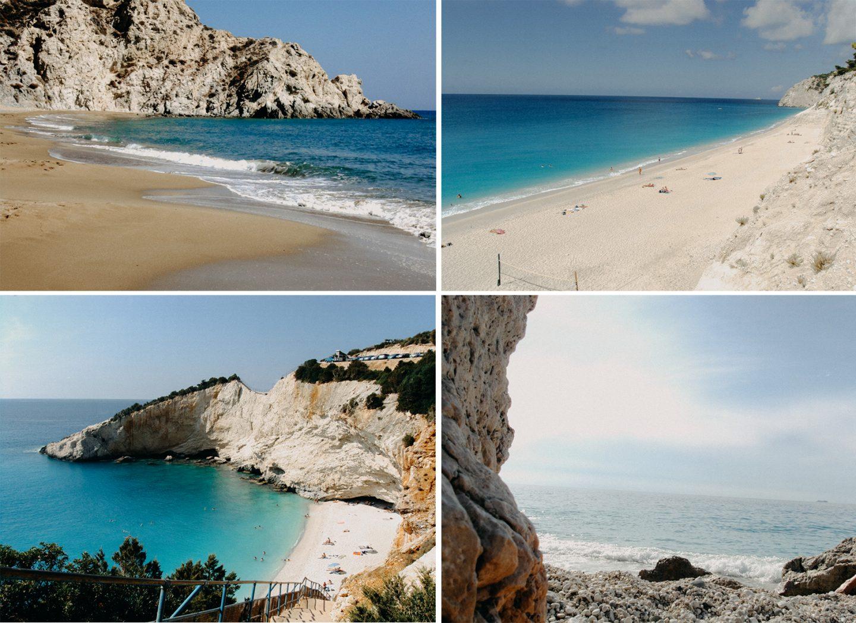 Strände auf den Inseln Anafi und Lefkada
