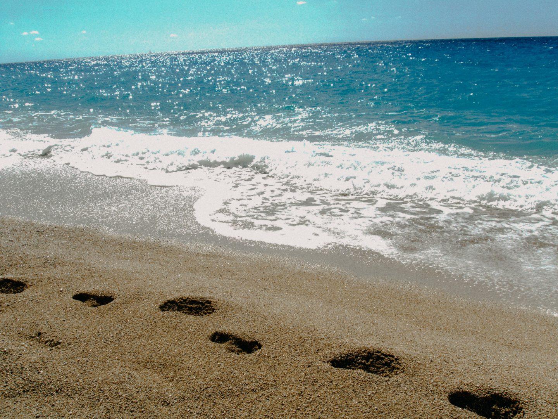 Spuren im Sand - hinterlasse Spuren auf deinem Weg