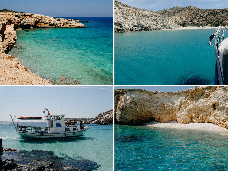 Strände auf den Inseln Donoussa, Koufonissi und Gramvoussa türkises Meer, wunderschön