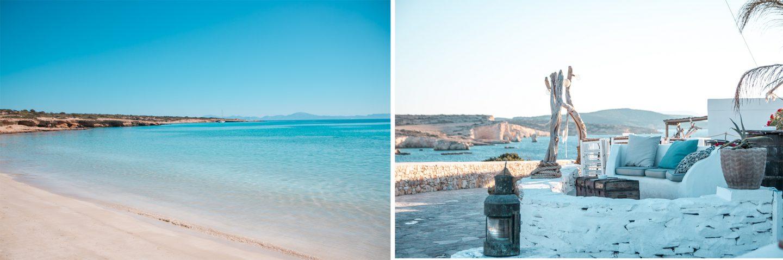 Koufonissi - Poros Beach und Milos Bar