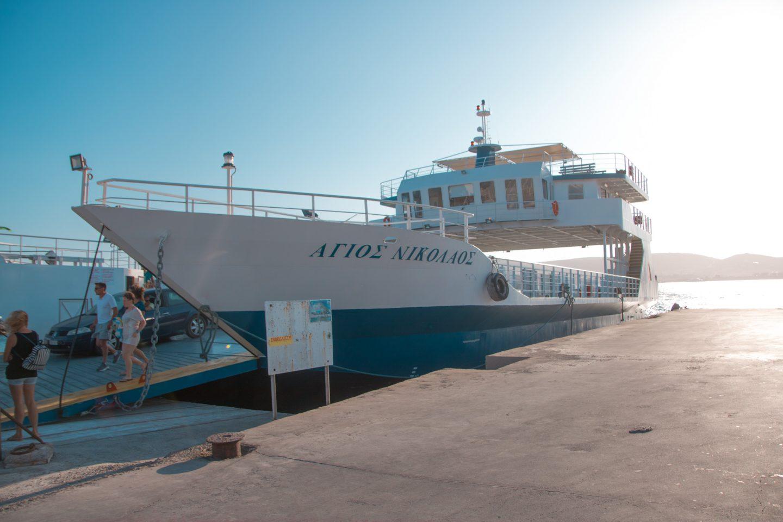 Reisen mit der Fähre von Punta/ Paros nach Antiparos