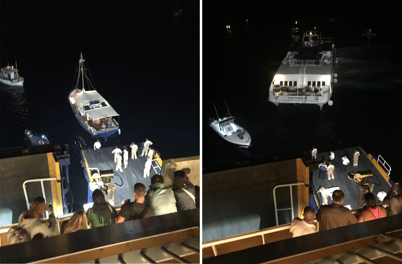 Evakuierung nach dem Schiffsunglück