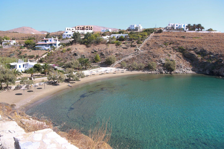 Syros- fünf wunderschöne Strände. Hier Ambela Strand.
