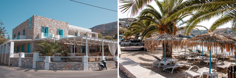 Syros- fünf wunderschöne Strände. Hier, Kini Beach Hotel und Strand.