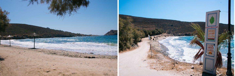 Syros- fünf wunderschöne Strände. Hier, Komito Beach mit feinem Sand und hlasklarem Meer.