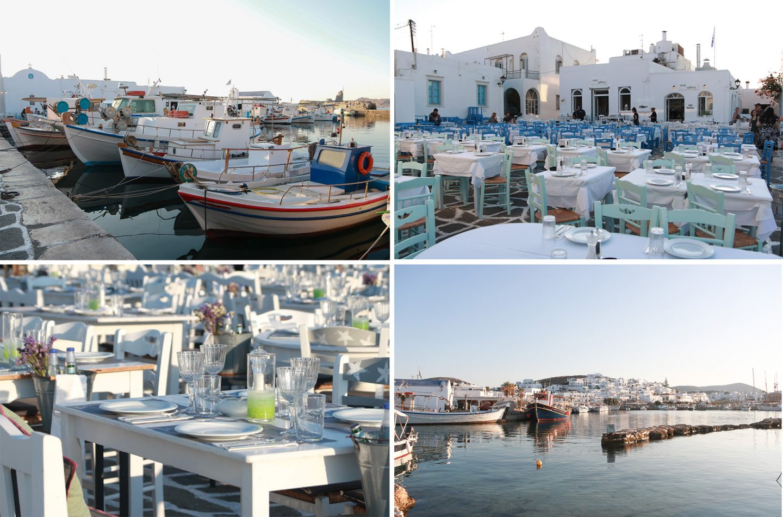 Naoussa - Hafen und Tavernen