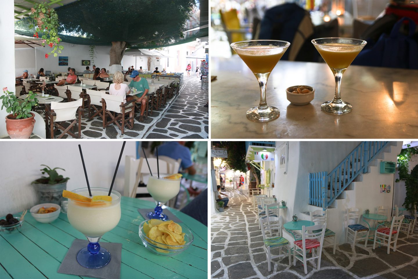Cocktails in Parikia und Naoussa