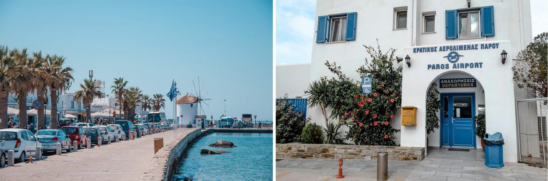 Paros Hafenbereich und Airport