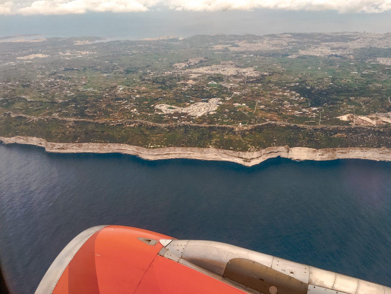 Dingli Cliffs Malta sind 250 Meter aus dem Meer herausragende Steilklippen