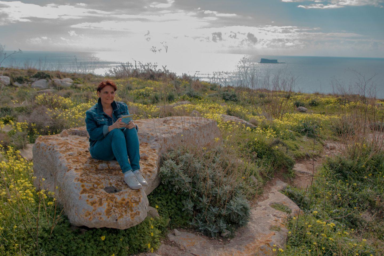 Hagar Quim st einer der fünf großen maltesischen Tempelkomplexe - rundherum wunderbare Natur