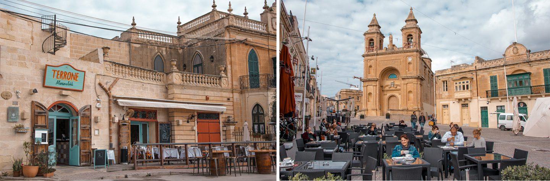 Nette Lokale am Hafen von Marsaxlokk -Terrone Restaurant und Costa Cafe