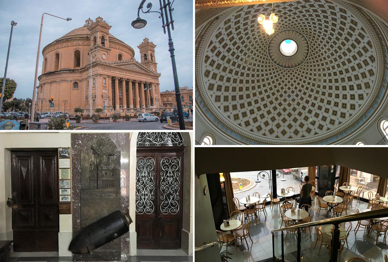 Kirche Rotunda in Mosta, hat eine wundervolle Kuppel und ist wunderschön anzusehen