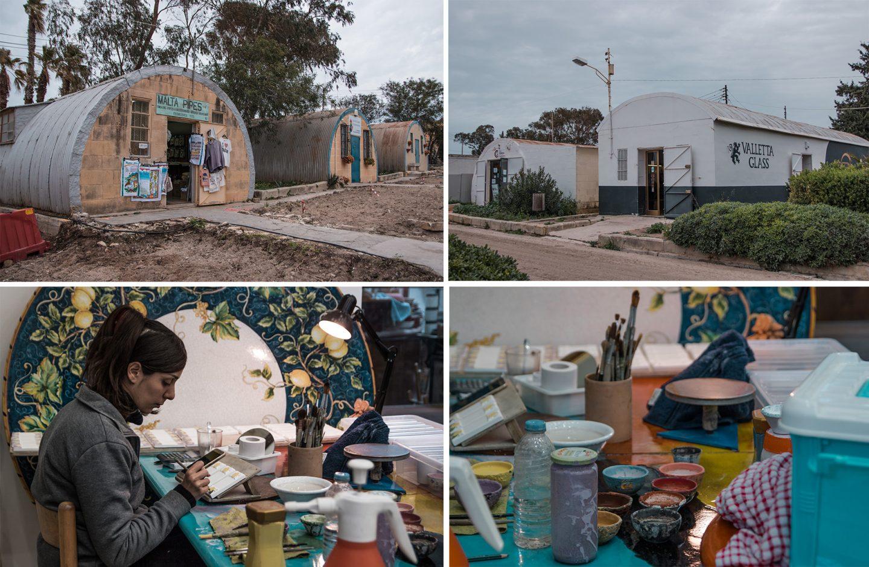 Ta Qali Crafts Village - ein spannender Ort. Ehemaliger Flugzeughangar, jetzt Kunsthandwerkstätte