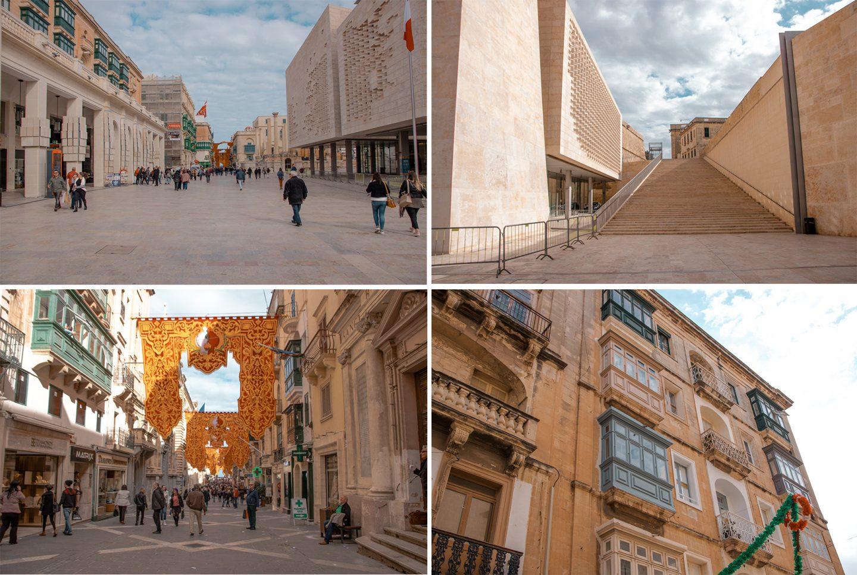 Parlament in Valetta und die Republic Street