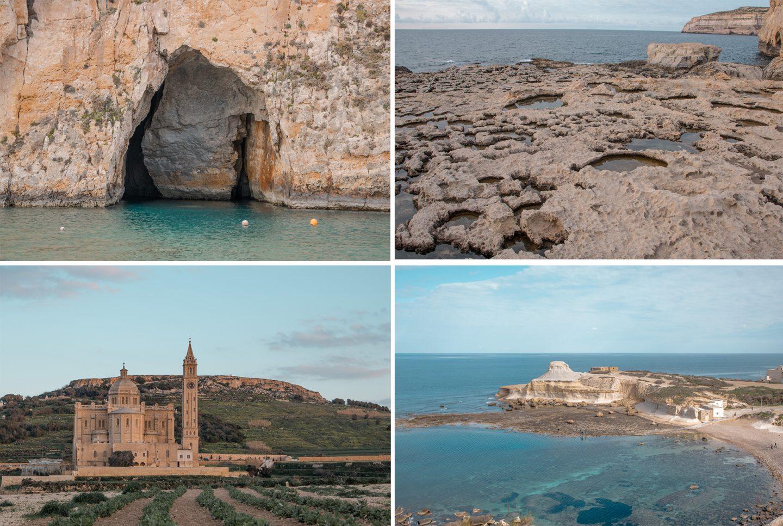 Inland Sea Diveside, Salzbecken, Ta Pinu Kirche und Strand bei den Salinen von Marsalforn