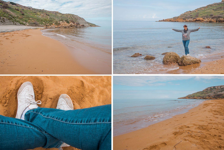 Spaziergang am feinsandigen Ramla Beach