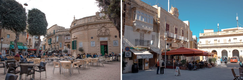 Pjazza I Indipendenza und Pjazza San Gorg, Victoria, Gozo