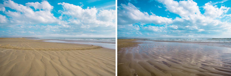 the Big Strand ist ein sehr langer Sandstrand nahe dem Flughafen.