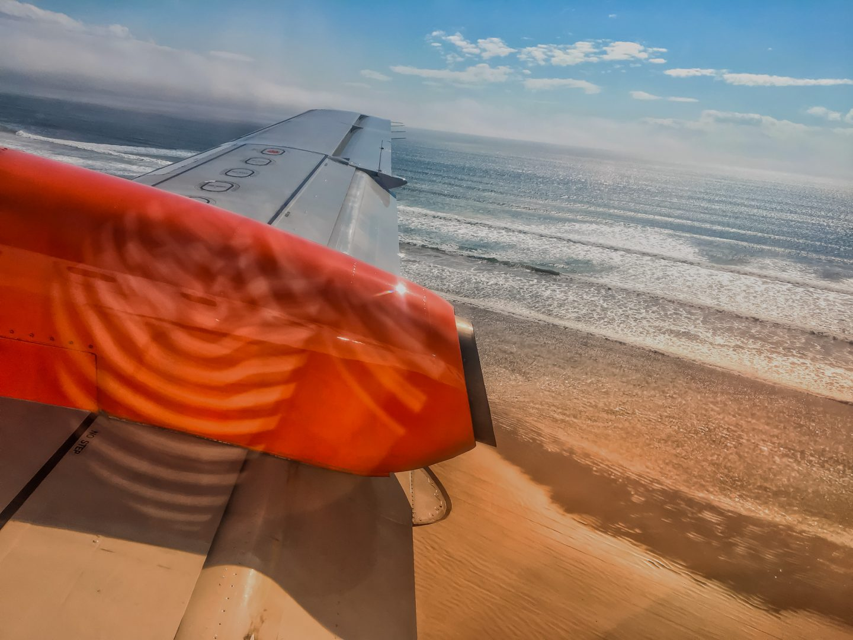 """Landeanflug in Islay über dem """"Big Strand"""""""