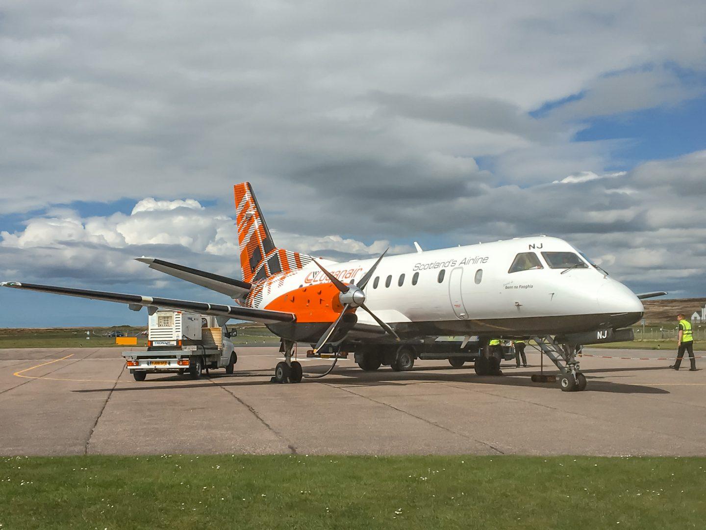 Logan Air von Glasgow nach Islay - kleine Propellermaschine für 33 Passagiere