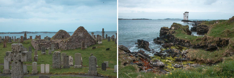 Leuchtturm Port Ellen und alter mystischer Friedhof