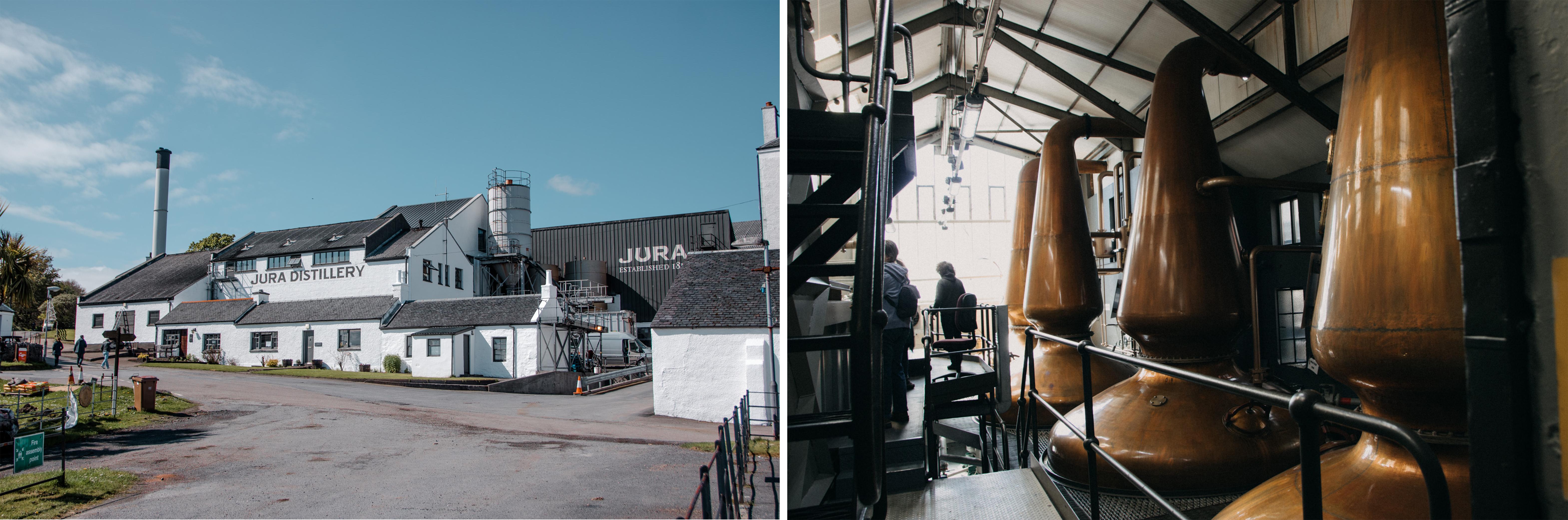 Jura Whisky Destillery in Craighouse auf der Insel Jura, Schottland