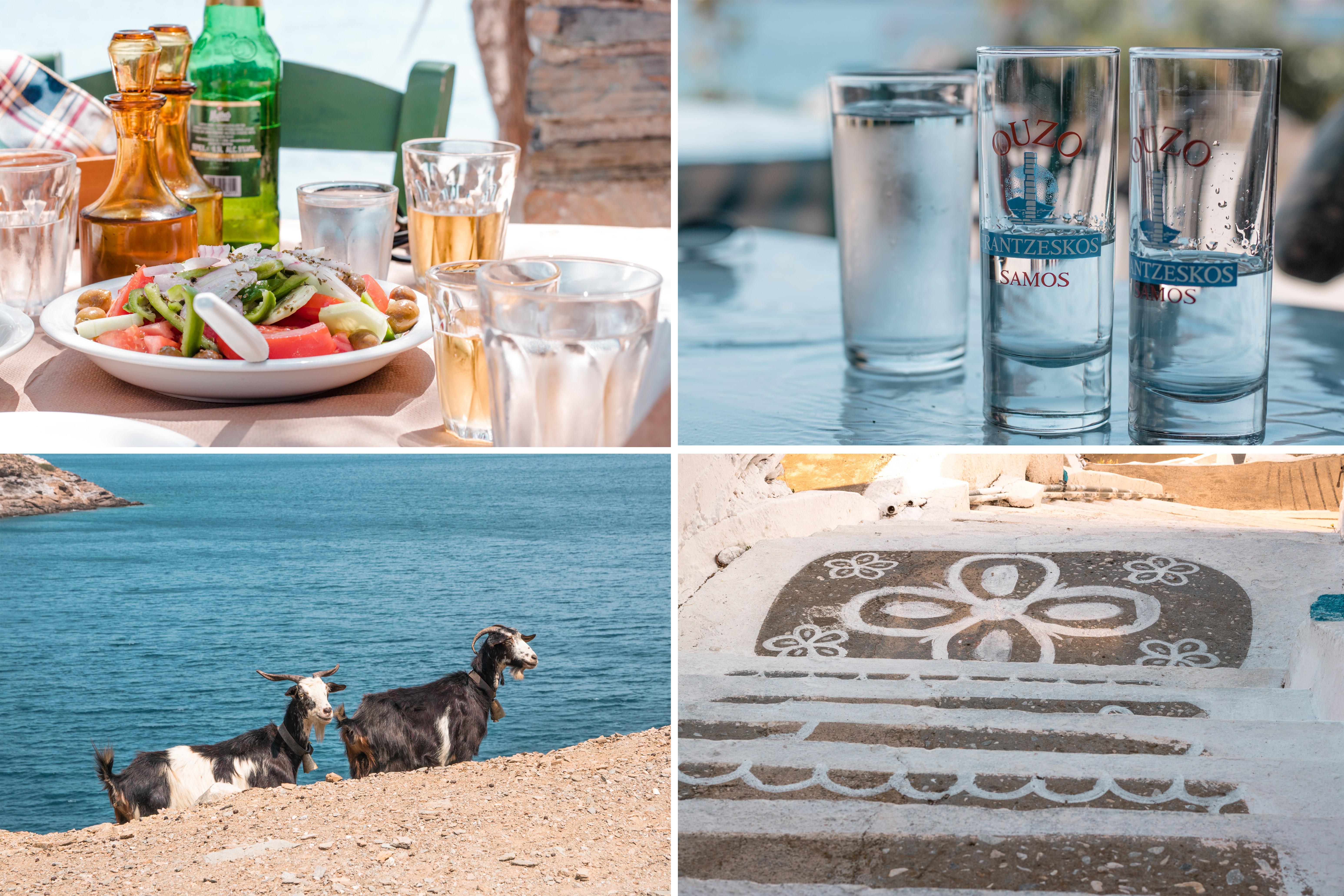 Insel Fourni- Inselhüpfen in den Dodekanes. Ziegen, Ouzo, griechischer Bauernsalat und bemalte Wege - einfach Top!
