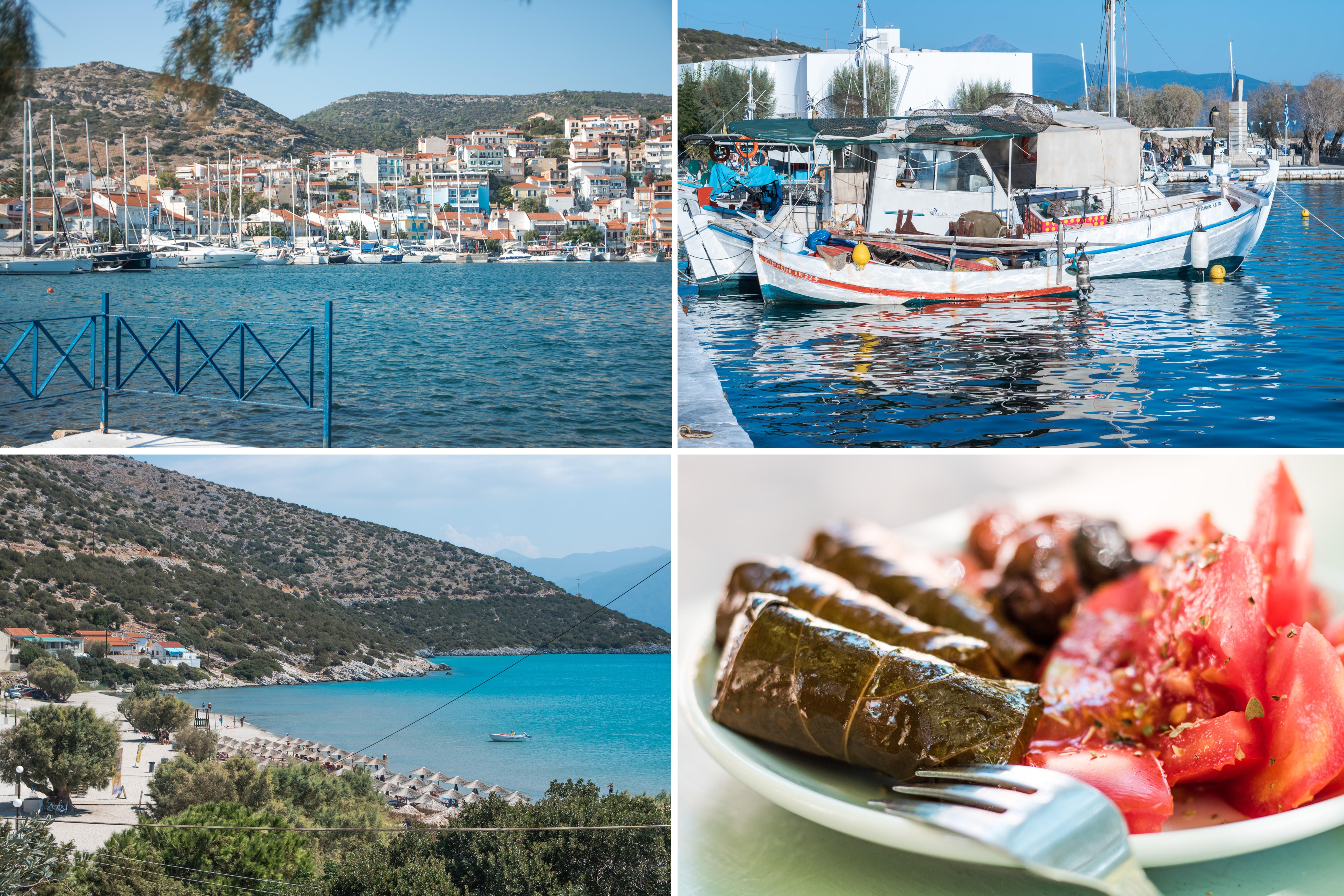 Inselhüpfen Insel Samos - Hafen, Strand und Kulinarik