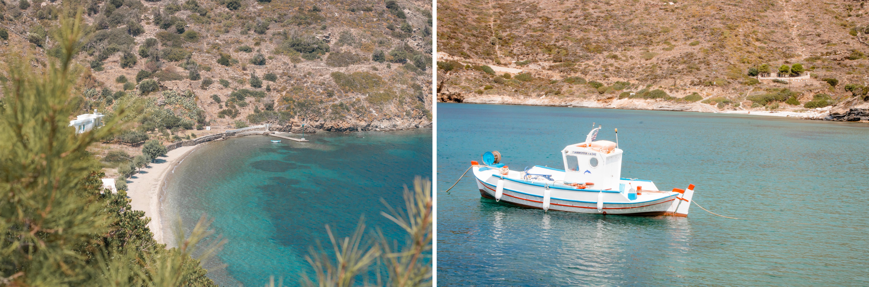 viele kleine Buchten und herrlich blaues Meer findet man überall auf der kleinen Insel Fourni