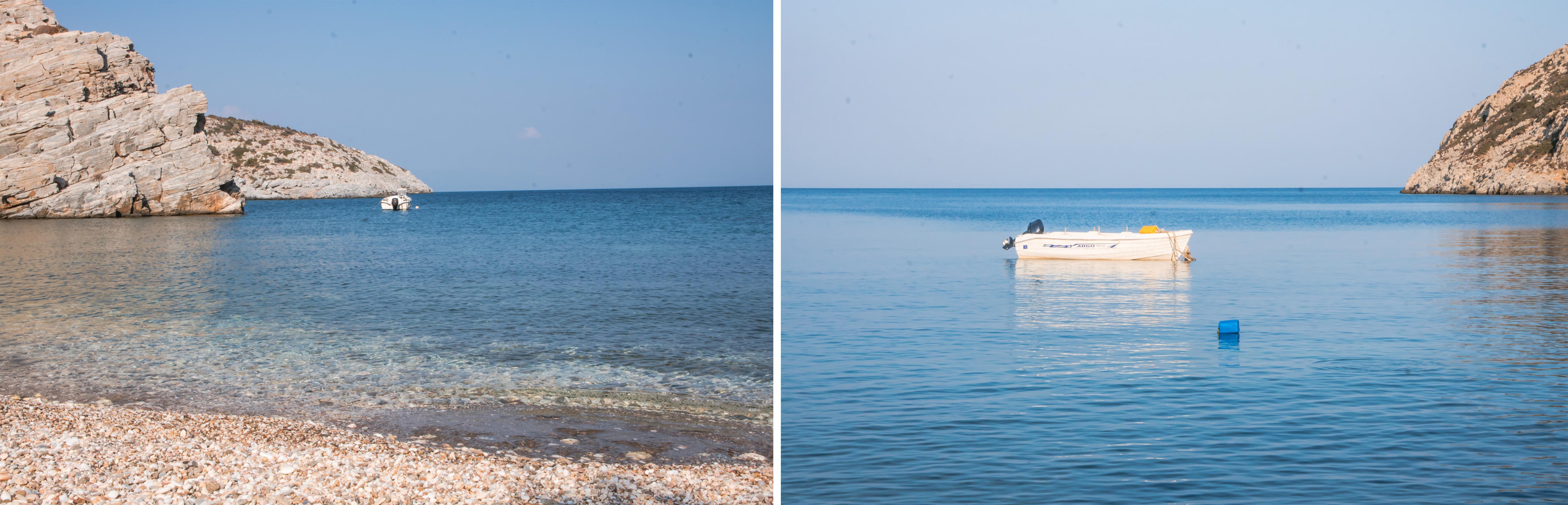So ruhig wie das Meer ist die Seele - nur ein kleines Boot wiegt sich sanft hin und her, sonst ist es ruhig und still am Meer