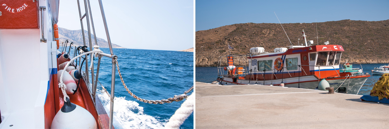 Mit dem Boot von Fourni nach Thimena, der kleinen Nachbarinsel