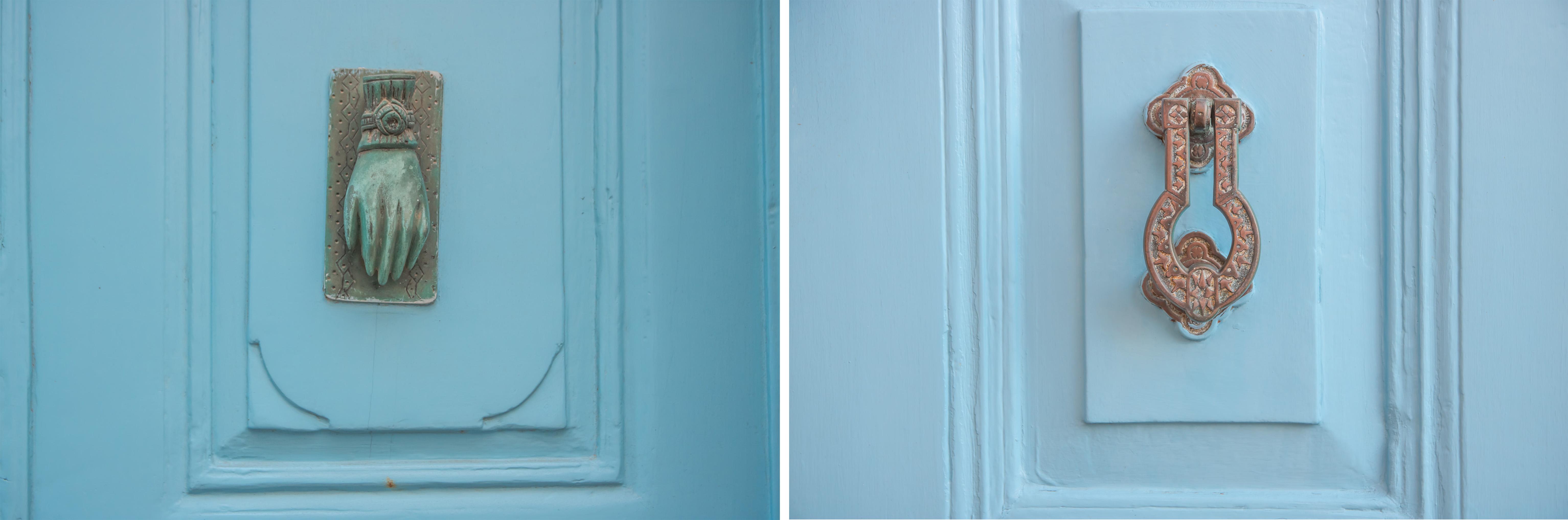 Patmos Chora, wunderschöne blaue Türen