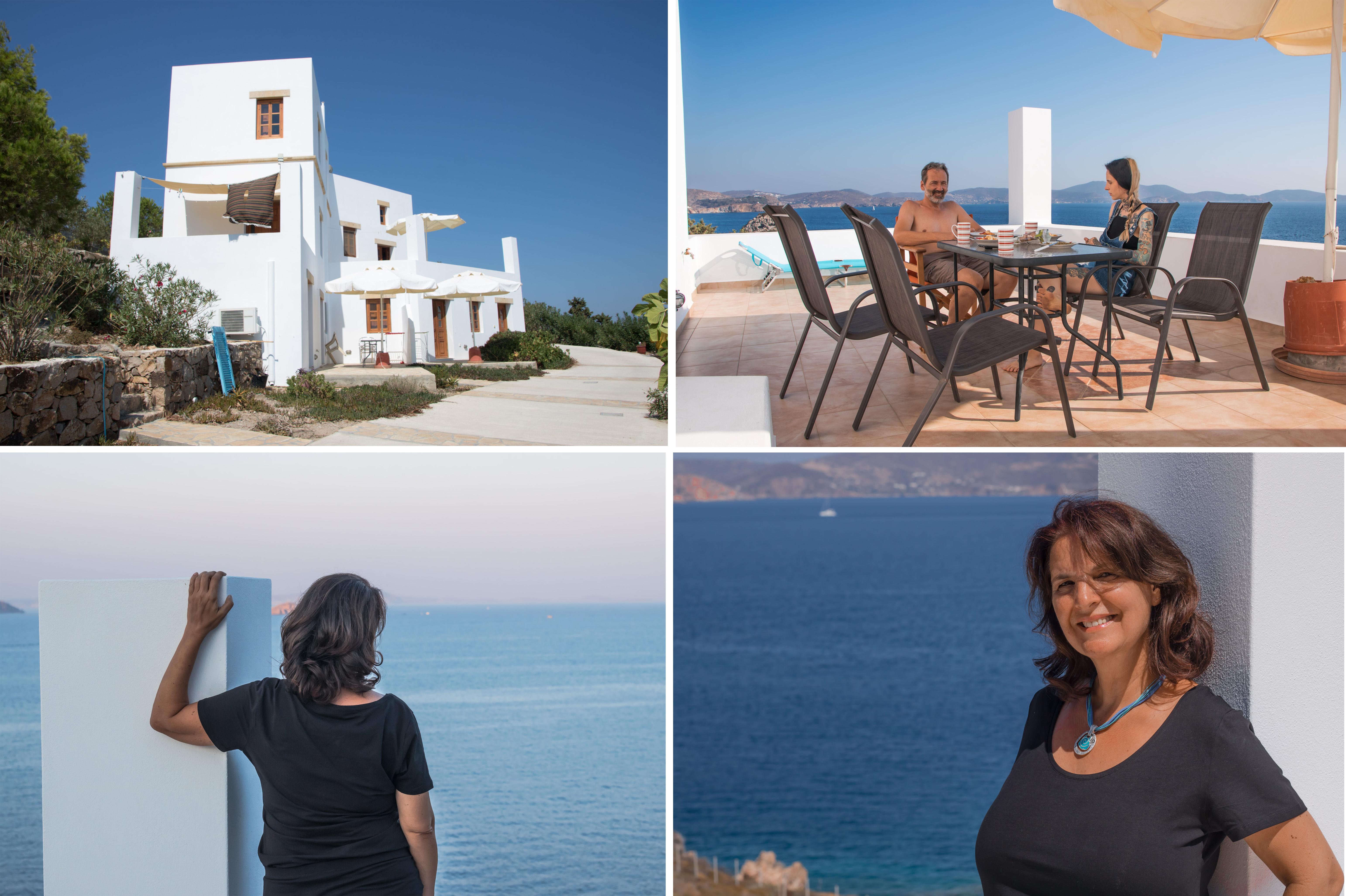 Patmos Garden Sea Apartments mit großartiger Terrasse