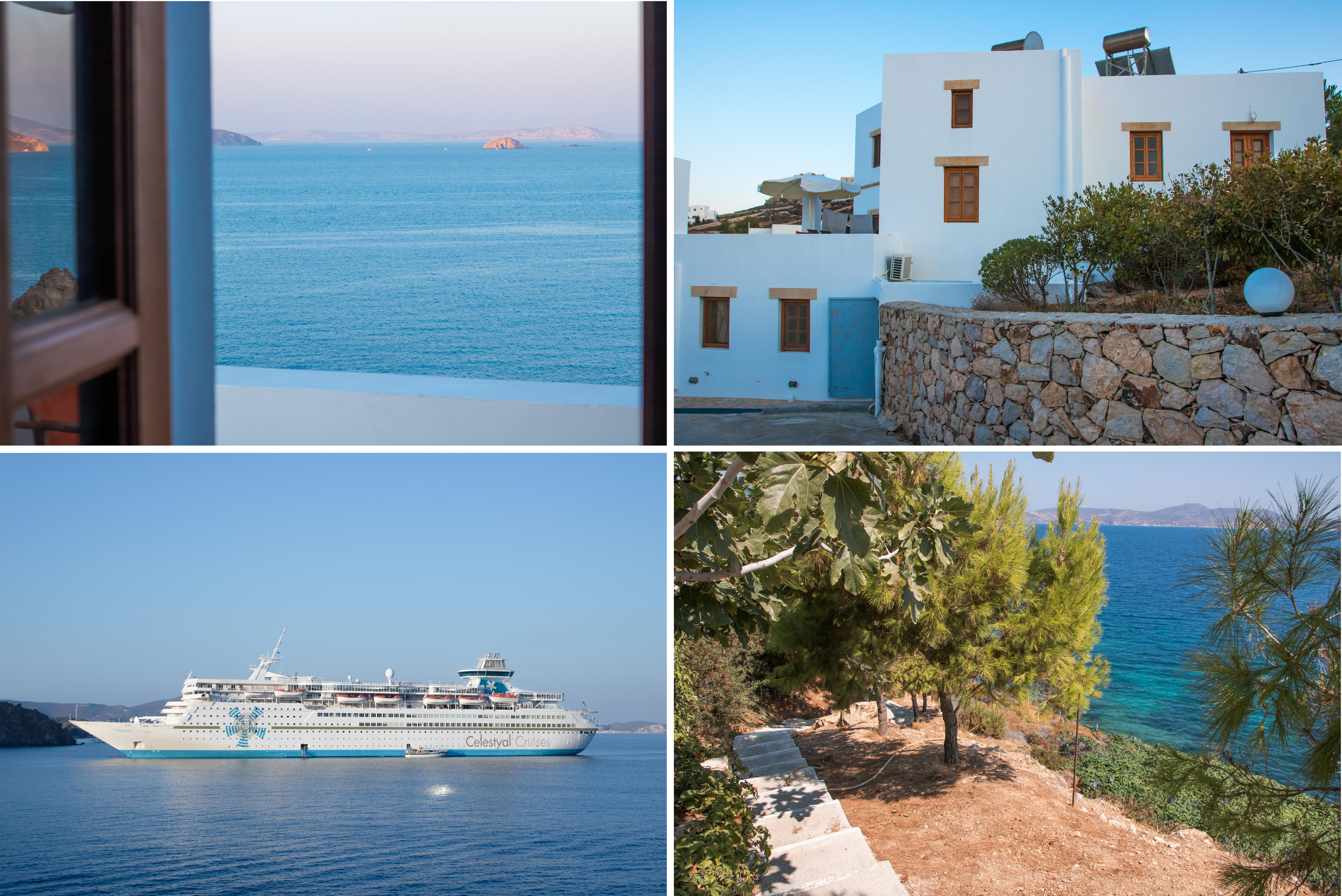 Patmos Garden Sea Apartments mit wunderschöner Aussicht über das Meer