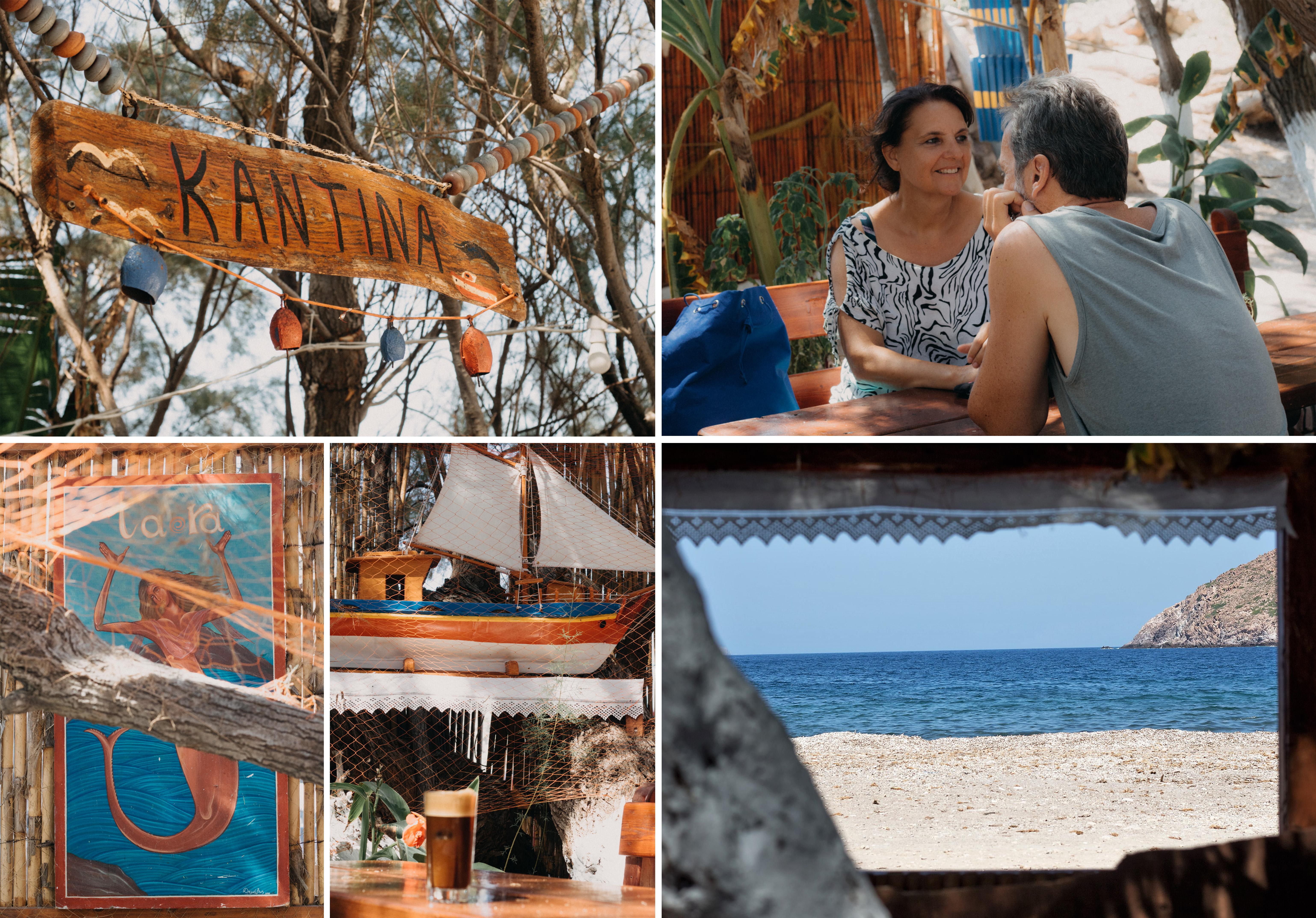 Lefkes Strand - Patmos. urige Kantina mit viel Liebe gestaltet