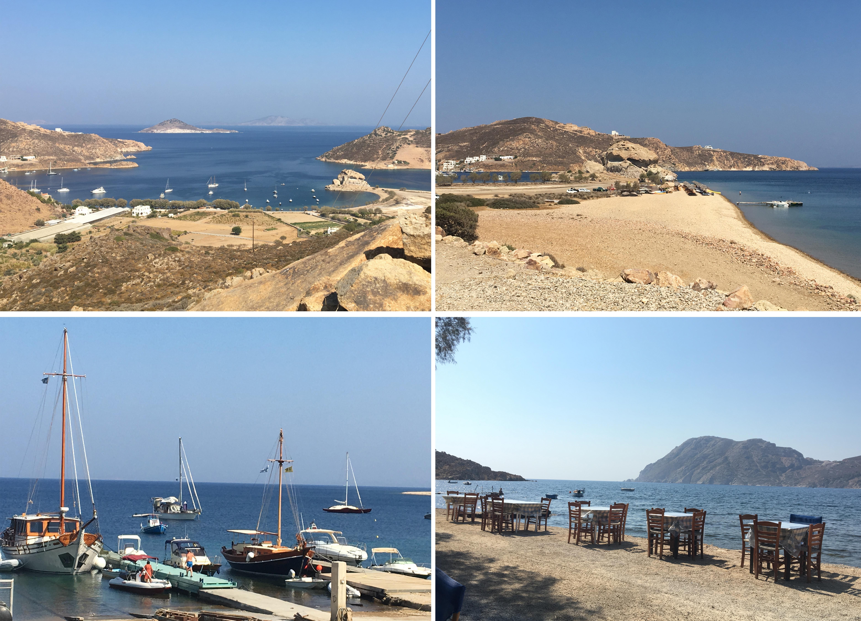 Im Süden der Insel südlich von Petra Strand und bei der Taverne to Diakofto