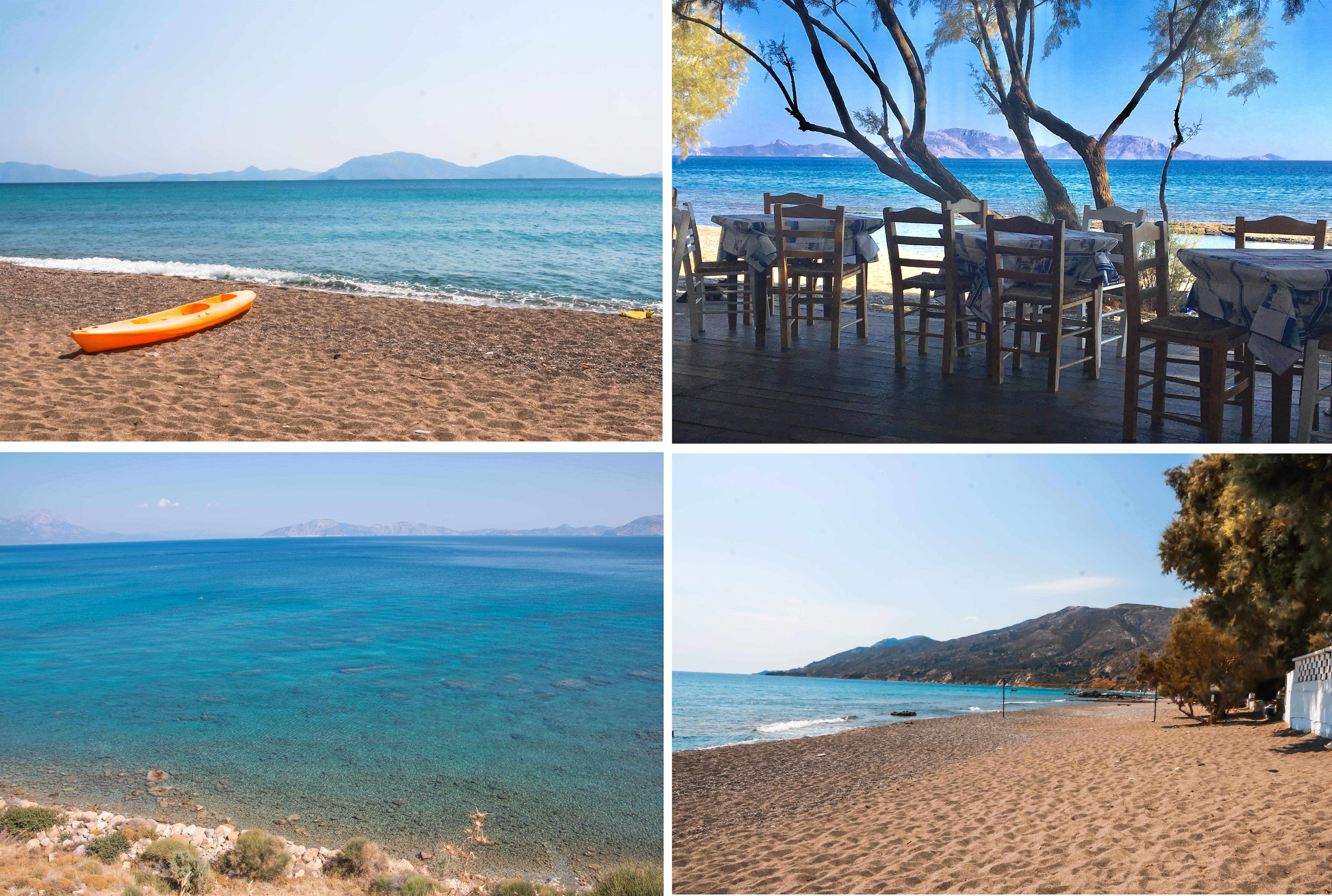 Fanari Beach im Südosten der Insel - schöner langer Strand mit Tavernen