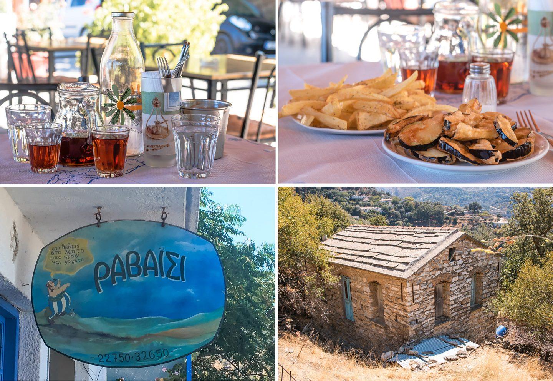 Ikaria - unterwegs durch die Berge - Taverne Ravaisi