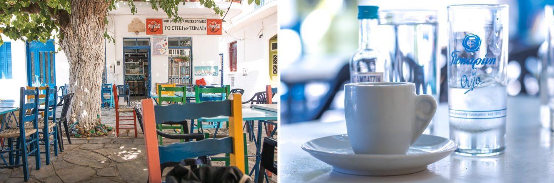 Kaffee in Karavostimo Ikaria