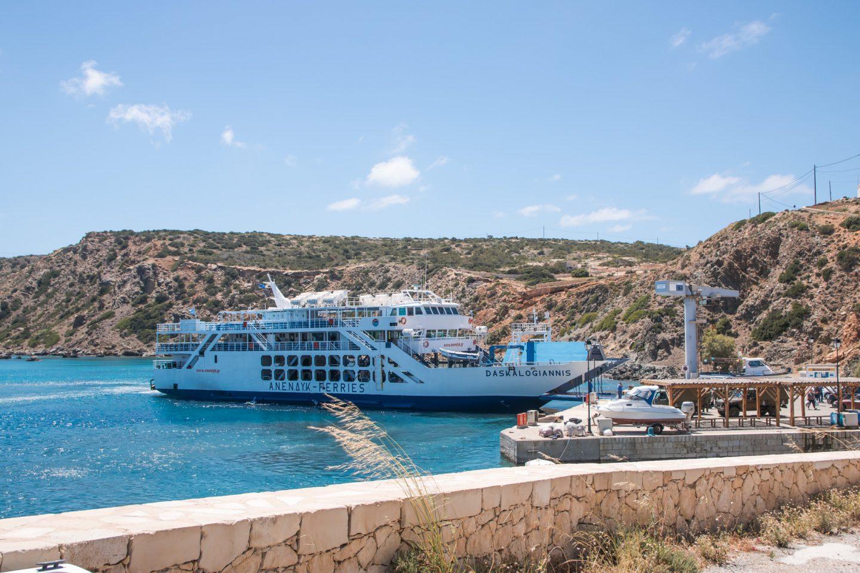 Ankunft im Hafen von Gavdos