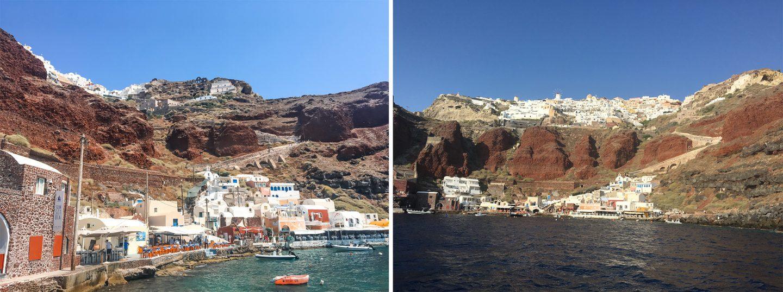 Insel Santorini Hafen Ammoudi