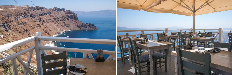 Taverne Panorama in Manolas - atemberaubende Aussicht und gutes Essen