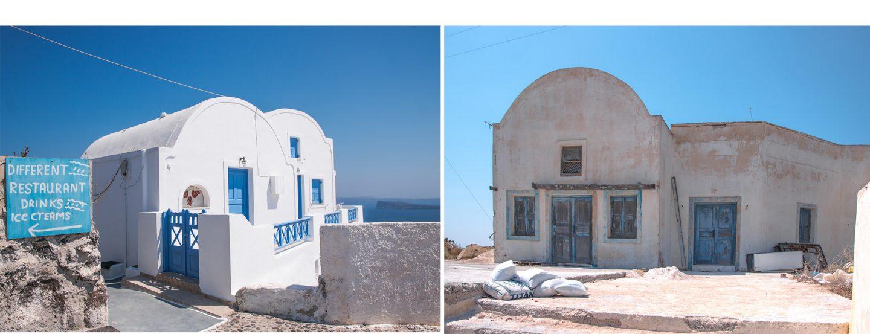 Insel Thirassia - Manolas hat wunderschöne neue Häuser und auch alte, die hoffentlich renoviert werden