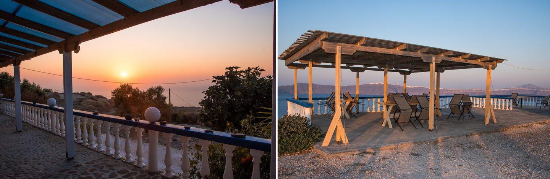 Insel Thirassia - den schönsten Ausblick gibt es bei Zacharo Studios