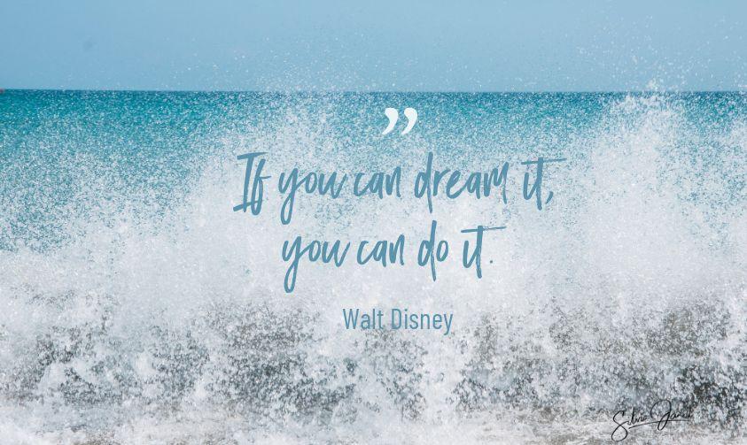 zitat von walt disney - Reisen ist bereichernd, folge deinen Träumen