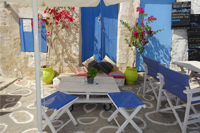 Inselträume im Cafe auf Kimolos